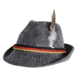 Hat-Oktoberfest German Alpine with Feather-1pkg