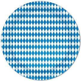 Luncheon Paper PLates-Oktoberfest-8pkg-Paper