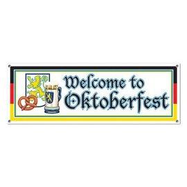Sign Banner-Plastic-Welcome to Oktoberfest-1pkg-5ft