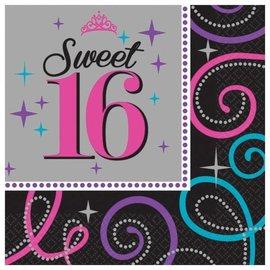 Napkins-LN-Sweet 16 Celebration-16pk-2ply - Discontinued