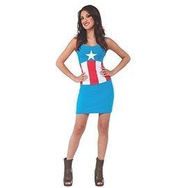 Costume-American Dream Shirt with Cape-Adult Medium