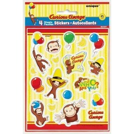 Stickers-Curious George-72pk