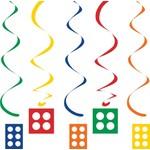 Danglers-Foil Swirl-Block Party-5pkg