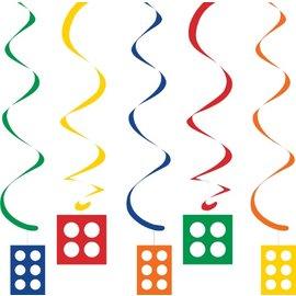 "Danglers-Foil Swirl-Block Party-5pkg-30""-39"""