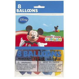 Balloons-Latex-Mickey Mouse Clubhouse-8pk
