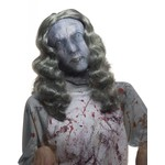 Costume Accessory-Zombie Mask with Long Grey Wig-One Size