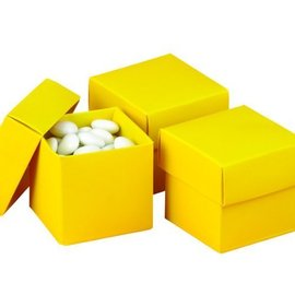Favor Boxes- Yellow- 25pk