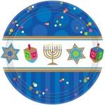 Plates-BEV-Hanukkah Celebrations-18pk-Paper