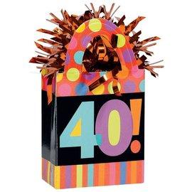 Balloon Weight-Dots & Stripes 40th-5.7oz