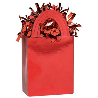 Balloon Weight-Solid Mini Totes-Red-5.7oz