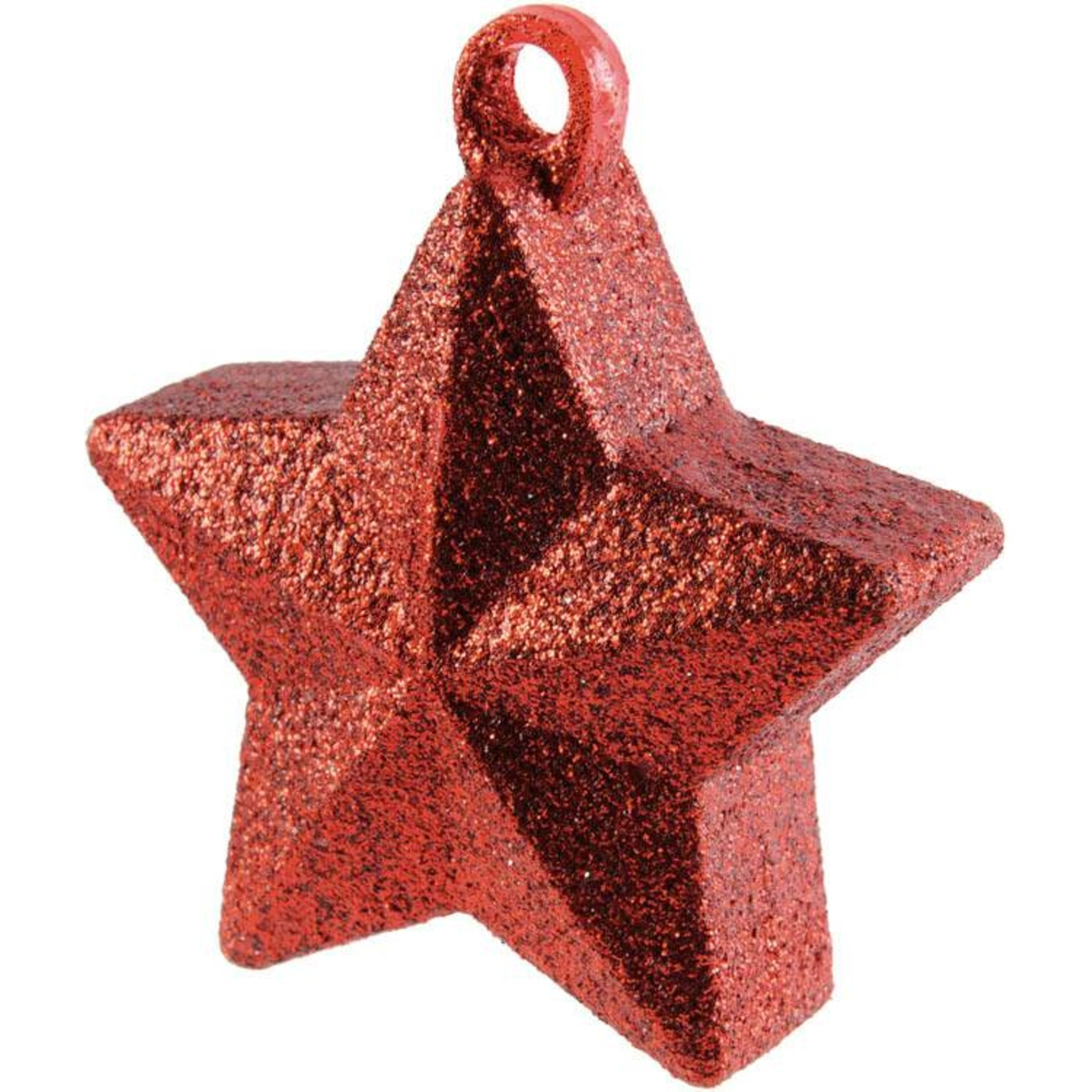 Balloon Weight-Glitter Star-Red-6oz