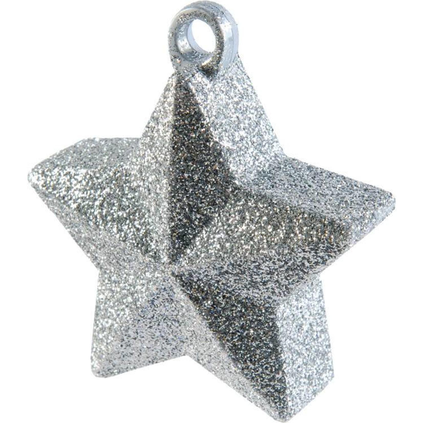 Balloon Weight-Glitter Star-Silver-6oz