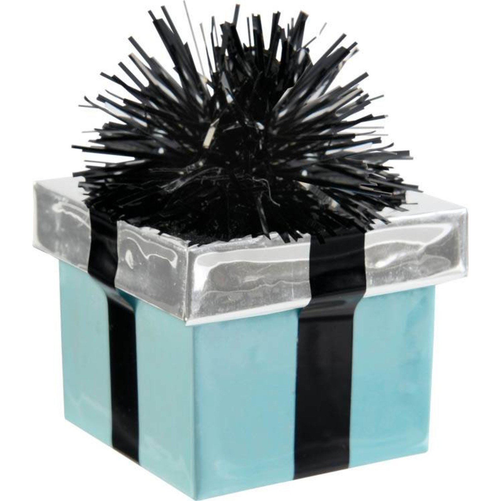 Balloon Weight-Gift Package -Teal Scroll-6oz