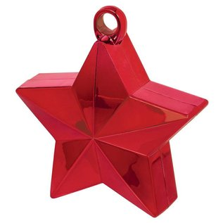 Balloon Weight-Star Electroplated-Red-6oz