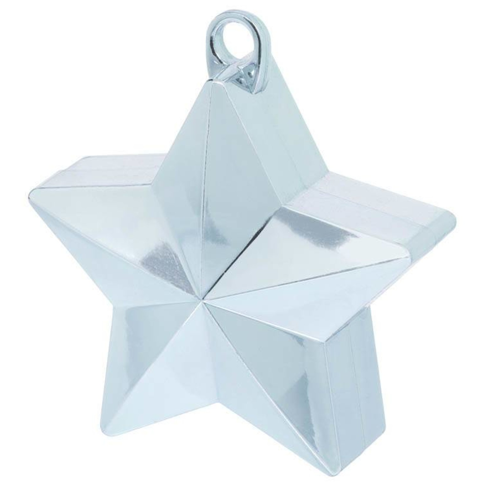 Balloon Weight-Star Electroplated-Lt. Blue-6oz