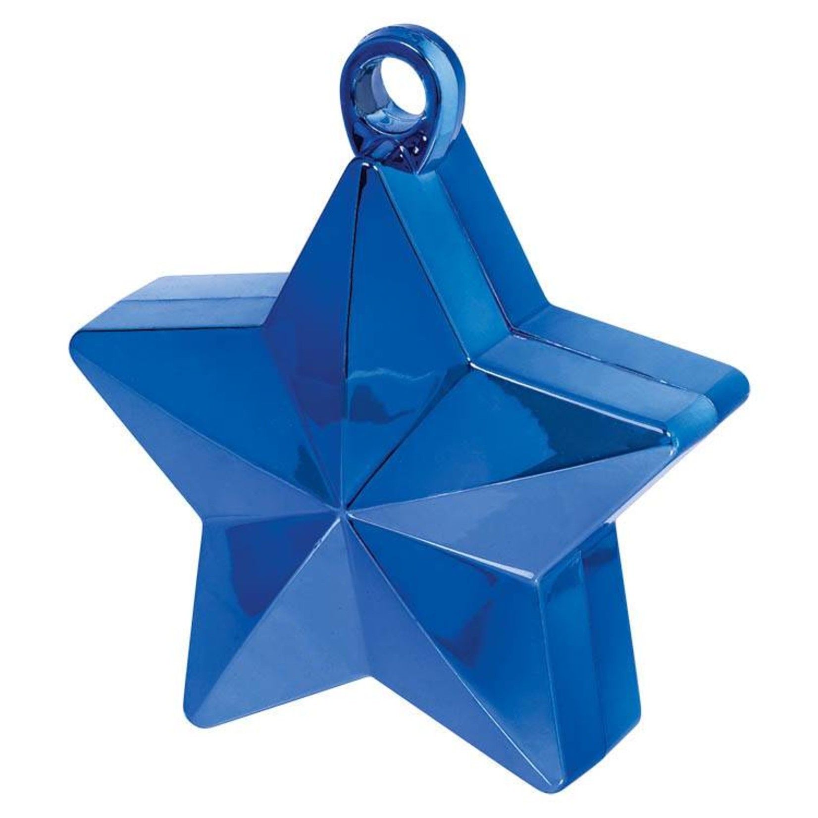 Balloon Weight-Star Electroplated-Blue-6oz