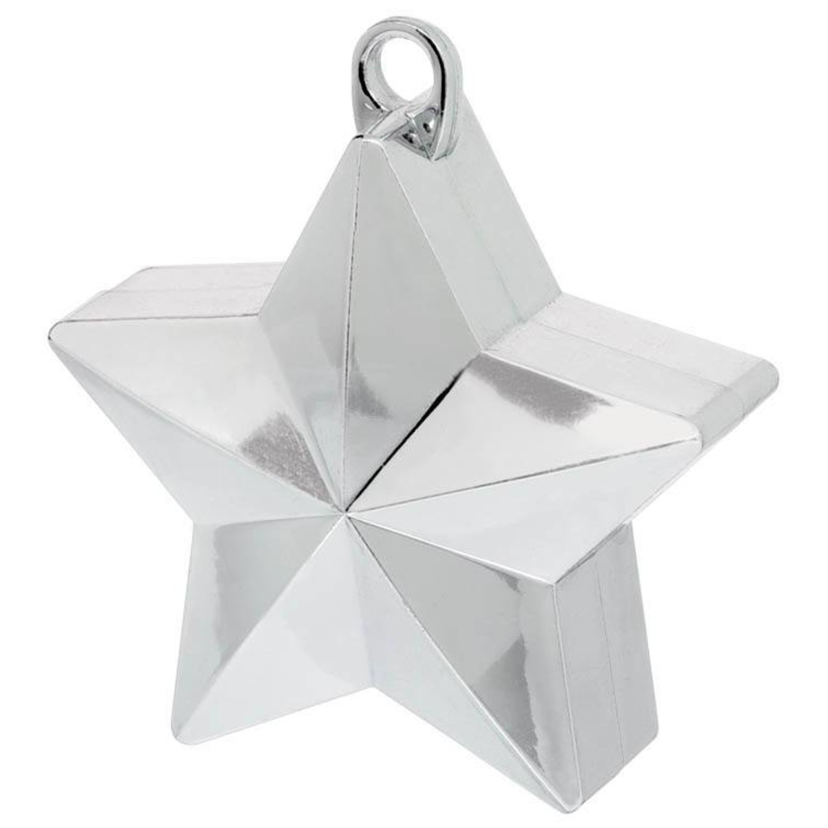 Balloon Weight-Star Electroplated-Silver-6oz