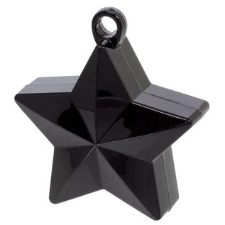 Balloon Weight-Star Electroplated-Black-6oz