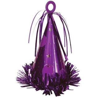 Balloon Weight-Party Hat-Purple-6oz