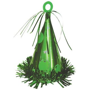 Balloon Weight-Party Hat-Green-6oz