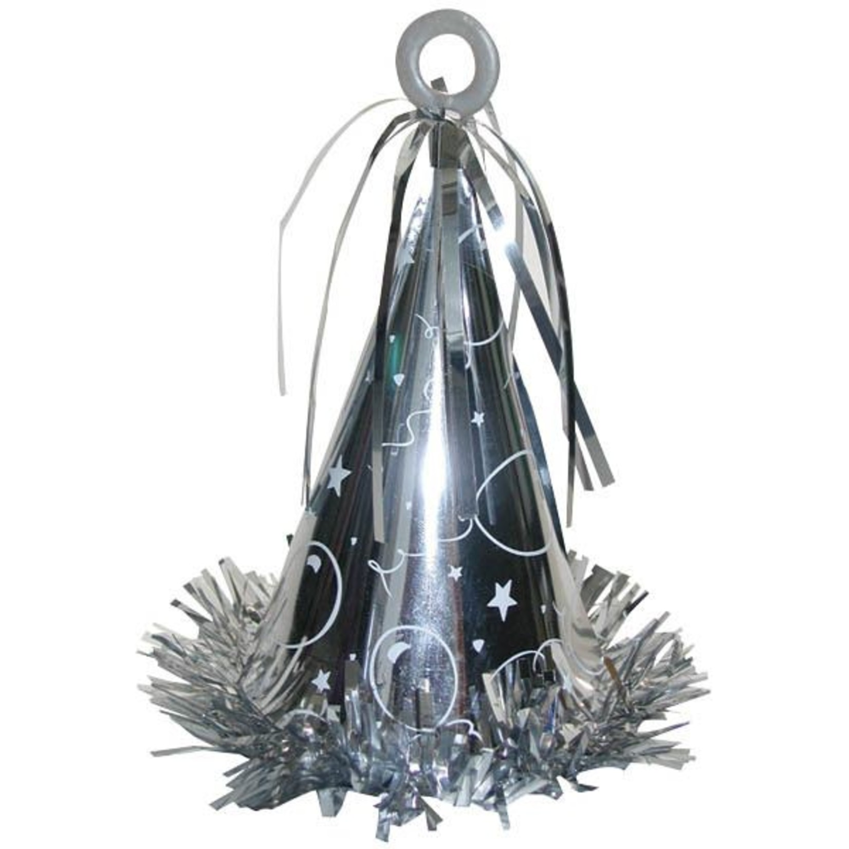 Balloon Weight-Party Hat-Silver-6oz
