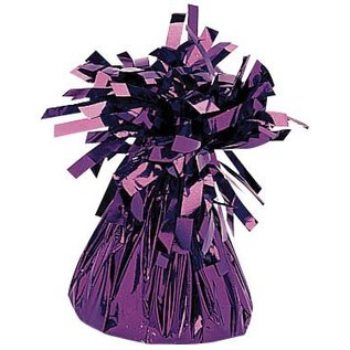 Balloon Weight-Small Foil-Purple-6oz