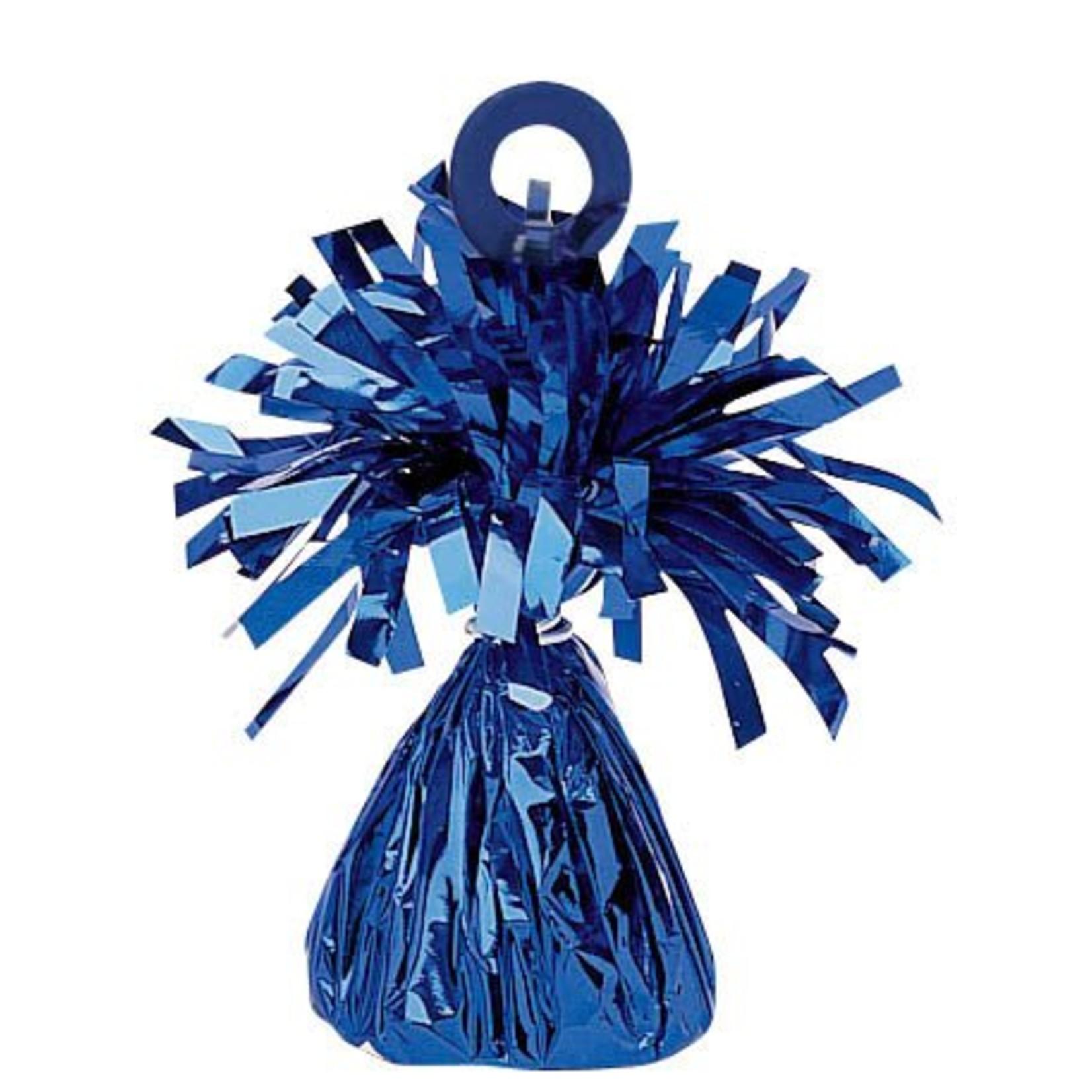 Balloon Weight-Small Foil-Blue-6oz