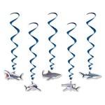 """Danglers-Foil Swirl-Sharks-5pkg-32""""-36"""""""