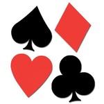 """Cutouts-Casino Card Suits-4pkg-15.5""""-16.5"""""""