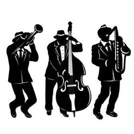 "Cutouts-Jazz Trio Silhouettes-3pkg-17.5""-18"""