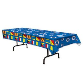Tablecover-Rectangle-Nautical Flags-Plastic