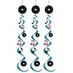 """Danglers-Foil Swirl-50's Rock & Roll-3pkg-30"""""""