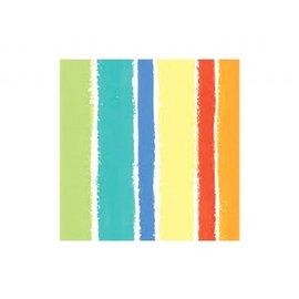 Napkins-BEV-Sunshine Stripes-16pkg-3ply (Discontinued)