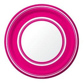 Plates-BEV-Hot Magenta Stripe-8pkg-Paper (Discontinued/Final Sale)