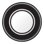 Plates-BEV-Black Velvet Stripe-8pkg-Paper (Discontinued/Final Sale)