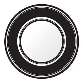 Plates-BEV-Black Velvet Stripe-8pkg-Paper (Discontinued/Final Sale)
