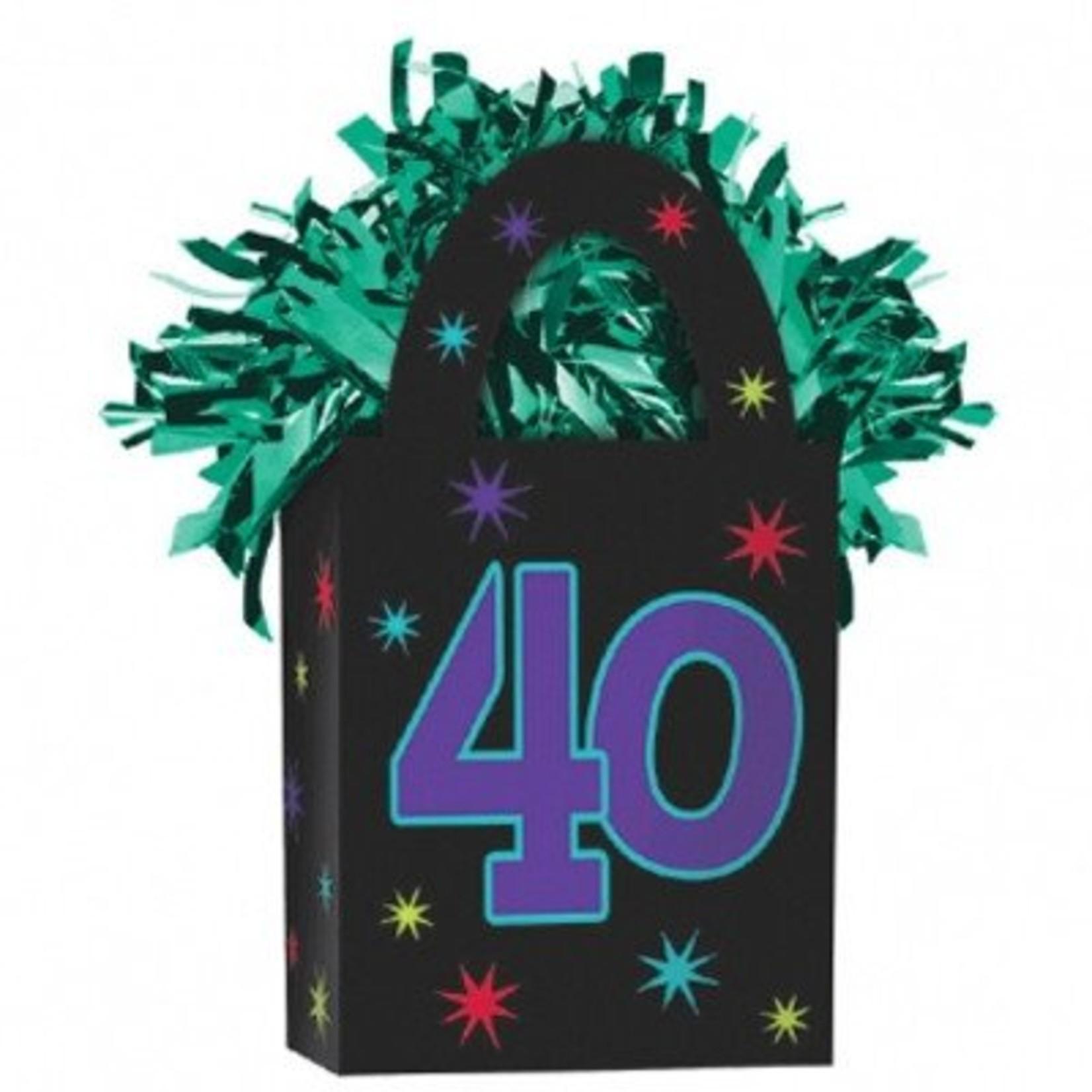 Balloon Weight-40th Birthday-5.7oz