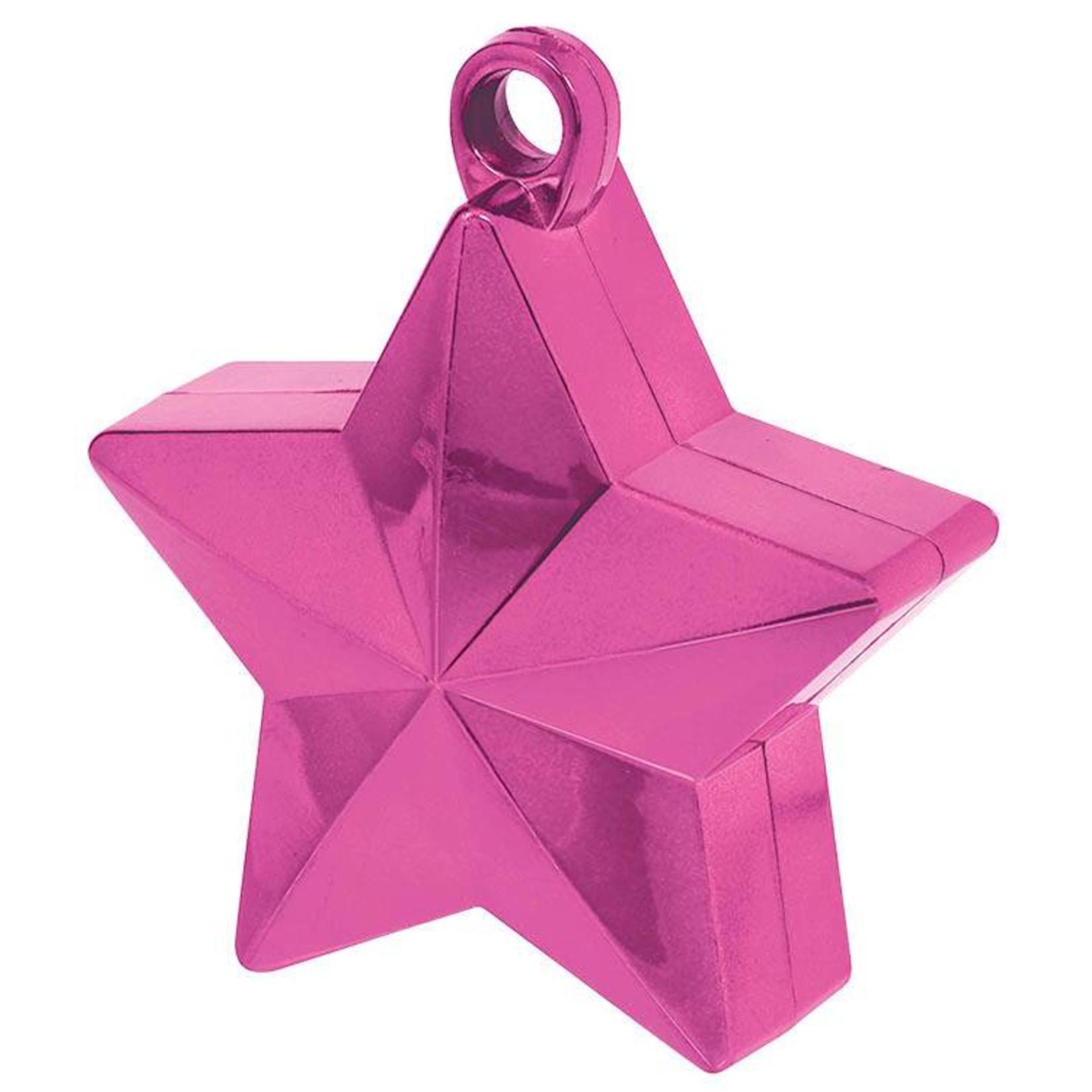 Balloon Weight-Star-Bright Pink-6oz