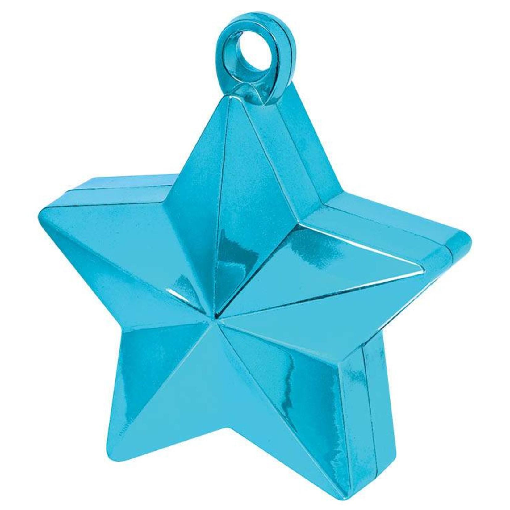 Balloon Weight-Star-Caribbean Blue-6oz