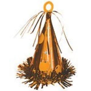 Balloon Weight-Party Hat-Orange-6oz