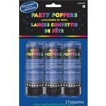 Confetti Popper-Blue-3pkg