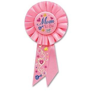 """Award Ribbon-Mom To Be-1pkg-6.5"""""""