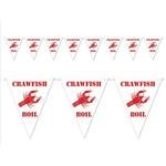 Pennant Banner-Plastic-Crawfish Boil-1pkg-12ft