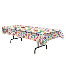 Tablecover-Rectangle-60th Celebration-Plastic - Discontinued