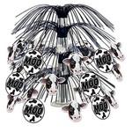 "Centerpiece-Metallic Cascade-Cow Print-1pkg-18"""