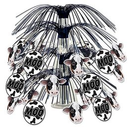 Centerpiece-Metallic Cascade-Cow Print-1pkg-18""