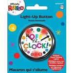 """Button-Light-Up-Officially Retired -""""Off the Clock""""-2.25''"""