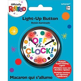 "Button-Light-Up-Officially Retired -""Off the Clock""-2.25''"