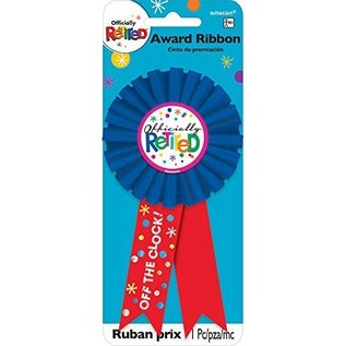 Award Ribbon-Officially Retired-6''