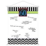 Sign In Scroll- 60th Birthday-Plastic-24'' x 19''
